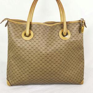 15 X 12 Auth Vintage Gucci Tote Shopper Micro GG